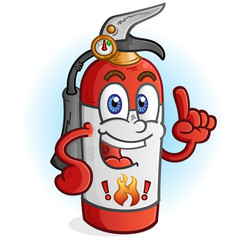 Fire Extinguisher Cartoon Character