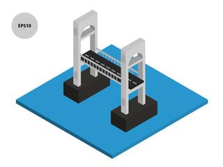 Isometric bridge vector