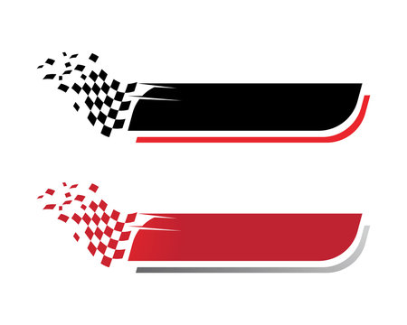 Race flag icon template illustration design