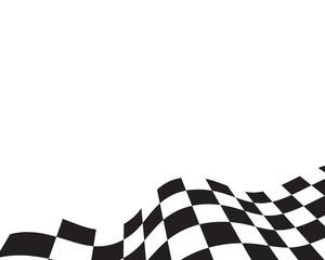 Race flag icon template illustration design