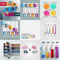 modern infographics set