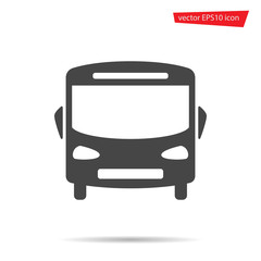 Bus icon. School auto isolated on background. Modern simple flat sign. Logo illustration