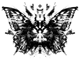 butterfly pattern in Rorschach Test style