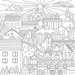 nice town for your coloring book