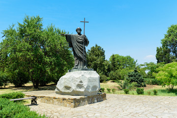 beautiful view on monument to Apostle Andrew in Chersonese Tavrichesky, Sevastopol, Crimea