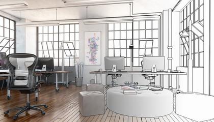 Postindustrial Office Area (sketch)