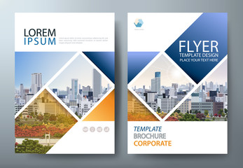 Annual report brochure flyer design template vector, Leaflet presentation, book cover, layout in A4 size. Wall mural
