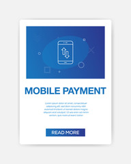 MOBILE PAYMENT ICON INFOGRAPHIC