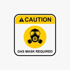 Gas mask icon, biohazard warning icon design vector