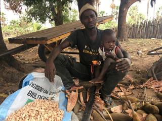Farmer Taerou Dieuhiou poses for a picture near Mangoule