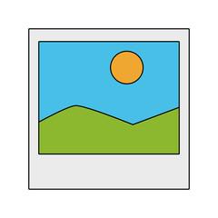 Landscape picture symbol vector illustration graphic design