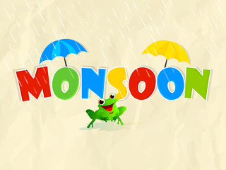 nice and creative sale abstract or poster for Monsoon with creative design illustration.