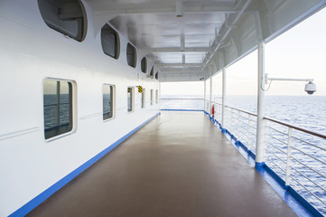 The empty cruise deck