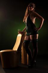 sexy woman green