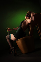 sexy Frau mit Sekt