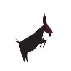 goat silhouette. goat logo