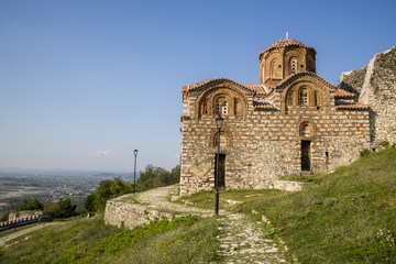 Berat Castle , Saint Trinity church , Albania