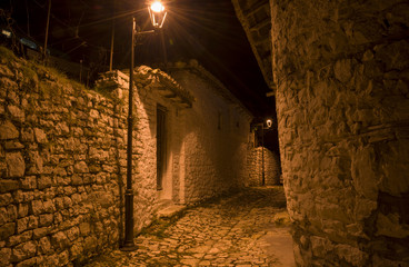 Old town in Berat castle in Berat, Albania