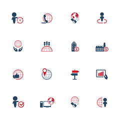 Business icons set. EPS10 Vector illustration.