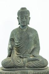 Old Zen Buddha Statue . stone texture