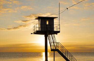 Rettungsturm am Strand - Sonnenuntergang