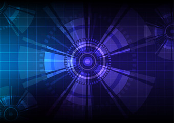 Abstract blue sci-fi space background .