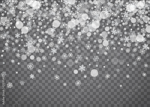 snowflake border for christmas and new year holidays horizontal snowflake border on transparent background with