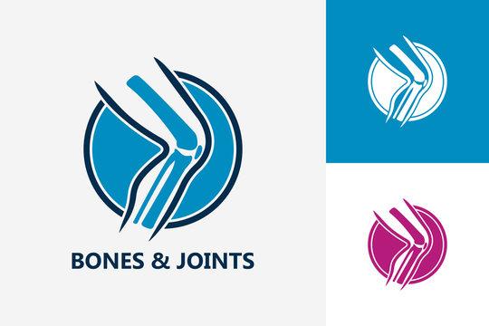 Bones And Joints Logo Template Design Vector, Emblem, Design Concept, Creative Symbol, Icon
