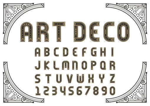 Art Deco creative font
