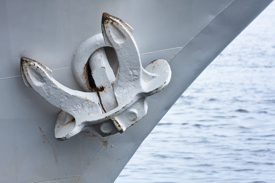 anchor of the steamship