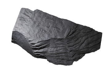 Slate Stone Texture  White Background