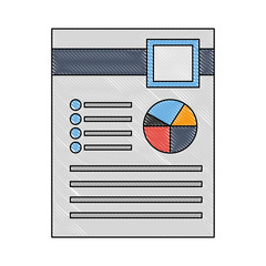 document file with statistics pie graphic icon