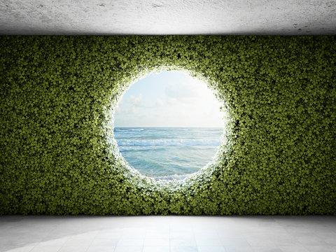 Large round window
