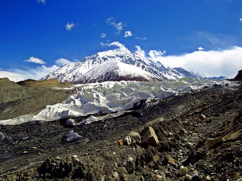 Yazghil Glacier in Shimshal valley, Karakoram, Northern Pakistan