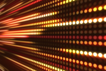 Abstract motion background, yellow and orange light streaks 3d illustration