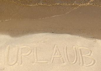 Botschaft im Sand - Urlaub