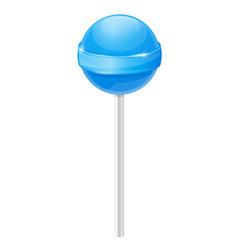 Lollipop. Blue candy