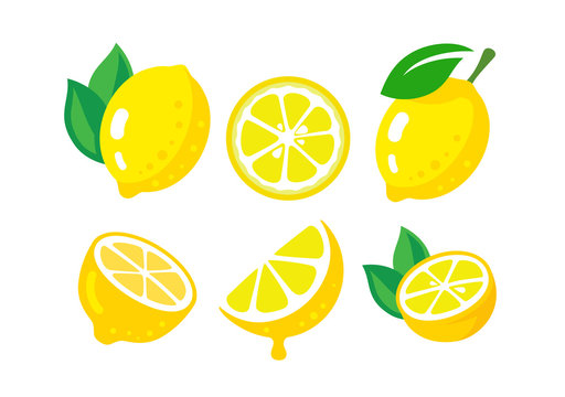 Fresh lemon fruits