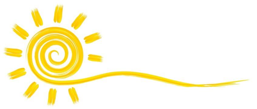 Символ яркого летнего солнца с лучами.