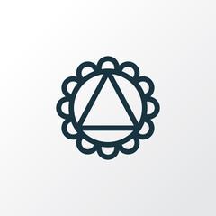 Ornament icon line symbol. Premium quality isolated mandala element in trendy style.