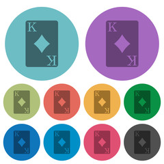 King of diamonds card color darker flat icons