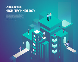 Smart city and high technology concept.