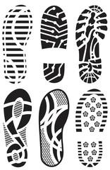 Shoe prints vector