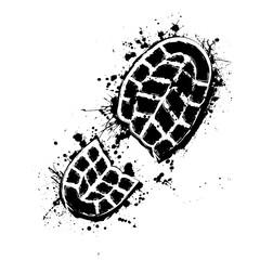 Grunge shoes background