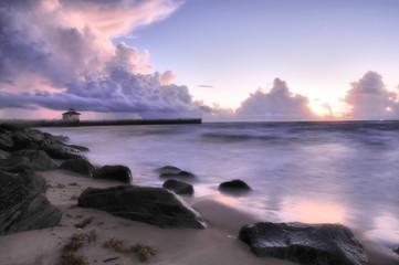 Blue Morning ?Sunrise from the Ocean Inlet in Boynton Beach, Florida