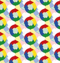 A seamless pattern containing circular cycles symbols. Vector Illustration
