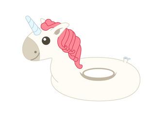Unicorn floater. Vector Illustration