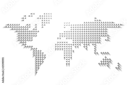 Dotted world map white dots with dropped shadow on white background dotted world map white dots with dropped shadow on white background vector illustration gumiabroncs Gallery