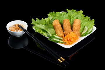 Vietnamese Nem ran crispy rolls