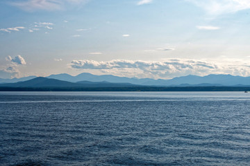Adirondacks Mountains from Lake Champlain